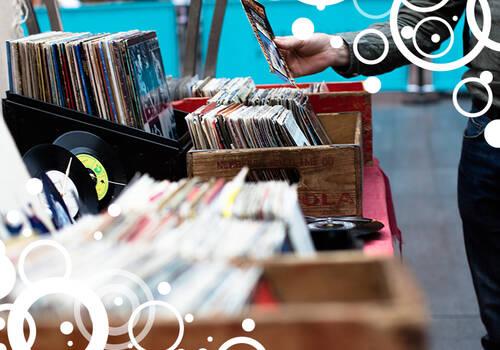 Schallplatten in Boxen