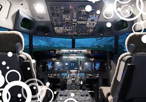 Aussicht aus einem Cockpit
